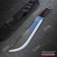 "19.25"" Fixed Blade Full Tang Saw Back Serrated Spine HUNTING Machete w/ Sheath"