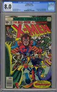X-MEN #107 CGC 8.0 1ST STARJAMMERS CORSAIR RAZA CH'OD HEPZIBAH