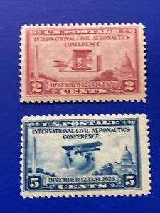 US Stamps-SC# 649 & 650  - 2/5 Cent - MH - SCV = 5.60