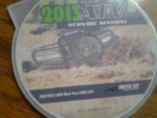 2013 Arctic Cat 500 700 1000 Mud Pro 1000 LTD ATV Service Manu CD (p/n 2259-591)