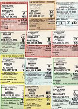 England Football Tickets & Stubs