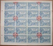RARE ! Planche Tickets d'Entrée Exposition Universelle & Jeux Olympiques de 1900