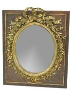 Victorian Oval Mirror with High Relief Floral Detail and Central Bow