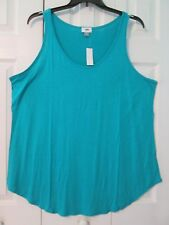 Old Navy Woman s Plus Size Sleeveless Teal Blue Green Relaxed Fit Tank Top  3x 94f55a39072d