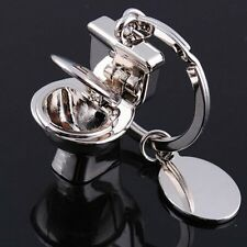 Cute Mini Toilet Creative Key Chain Ring Keyring Metal Keychain Gift Tools 1 pcs