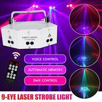 9-EYE RGB DMX LED DJ Projektor Disco Party Bühnenlicht
