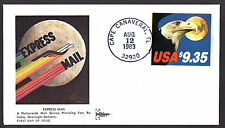 1909 Eagle & The Moon Express Mail $9.35  FDC Kribbs GilCraft FDC UA LOT 805