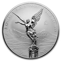 2018 Mexico 5 oz Silver Reverse Proof Libertad ~ In Capsule (Ships Free)