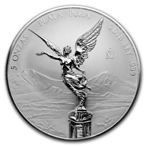 *SALE* 2018 Mexico 5 oz Silver Reverse Proof Libertad ~ In Capsule