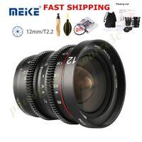 Meike 12mm T2.2 Cinema Wide Angle MF Lens For Olympus Panasonic Lumix M4/3 mount