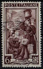 ITALY 1950 Lace Maker Water Carrier Scanno Regional Occupations 6 lire STAMP