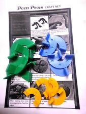 Pom Pom Pon Craft Set StepByStep Kit Pompom Maker Diy Craft - 3 Pieces / Sizes