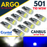 501 LED XENON BULB T10 WHITE SIDE LIGHT CAR VAN CANBUS FREE CREE WEDGE LAMP 12V