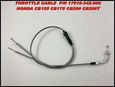 Honda CB125 CB175 CB200 CB200T Throttle Cable P/N 17910-342-000 Reproduction