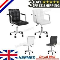 Executive Office Chair PU Leather Computer Desk Chair 360° rotary with Wheels UK