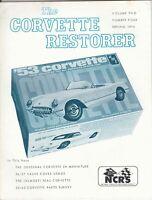"""1953 Corvette model kit - """"NCRS"""" The Corvette Restorer VOL. 2, 1976 #4"""