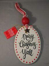 Burton + Burton Ceramic Plaque by Carla Grogan Merry Christmas Y'All