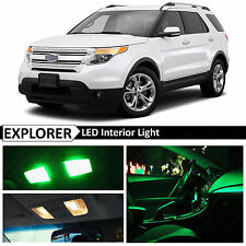 13x Green Interior LED Lights Package Kit for 2011-2016 Ford Explorer
