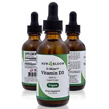 New Bloom D-Shine™ Vitamin D3 5000IU Liquid Drops Sublingual Vegan 2 fl oz