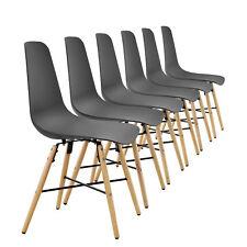 [en.casa] Ensemble de 6 Chaise salle à manger Gris plastique à design rétro
