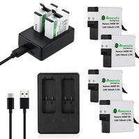 AHDBT-501 Li-ion Battery + Dual USB Charger For GoPro Hero 5 HERO 6 Black Camera
