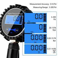 Digital tire air inflator pressure gauge 200 psi car bike U9S1 B2K8 RV C2F2