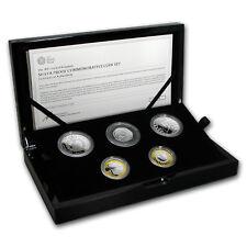 2017 Great Britain 5-Coin Silver Commemorative Proof Set