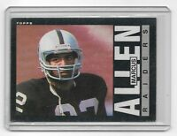 1985 Topps Marcus Allen Football Trading Card #282 ~ Oakland Raiders NFL