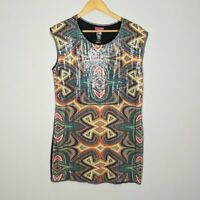 Custo Barcelona Women's Multicolor Sleeveless Printed Sequin Top Size M
