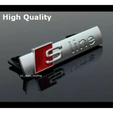 High Quality Audi S-Line Chrome Mat Grill Badge Emblem Decal Grille S Line