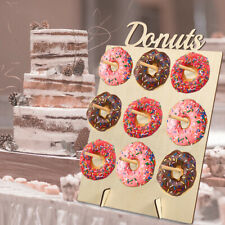 DIY Donut Wall Hold Candy Sweet Stand Wooden Table Holder Wedding Decor