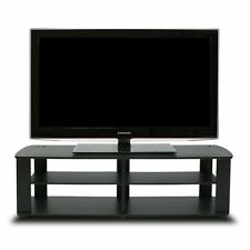 Furinno 11191 The Entertainment Center TV Stand Black For Up To 42 inches TV New