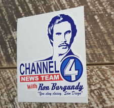 RON BURGANDY ANCHOR DECAL STICKER OLD SCHOOL NOVELTY DECALS STICKERS RALLY DRIFT