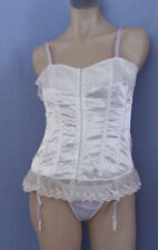 Cotton Blend Regular Size Lace Up Corsets & Bustiers for Women