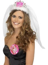 Bride to Be Tiara With Veil Adult Womens Smiffys Fancy Dress Costume Accessory