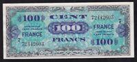 FRANCE ----- 100  FRANCS  1944 ----- VF+ ---- MILITARY - WW2-- VERY NICE -----