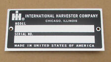 Id Serial Number Plate For Ih International 1086 1256 1456 1466 1468 1486 1566