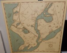 JOAN BOOTH TOWN OF BARRINGTON COLOR MAP DATED 1966