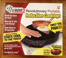 """NEW NuWave 2 Precision Portable Induction Cooktop w/ 9"""" Ceramic Pan FREE SHIPPIN"""
