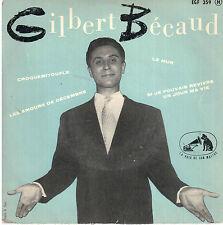 45T EP: Gilbert Bécaud: croquemitoufle + 3 titres. pathe