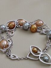 Honora Sterling Silver 4-8.5Mm Freshwater Cultured Pearl Bracelet NWT$240