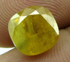 Certifed 5.95Ct Natural Yellow Sapphire Pukhraj Oval Faceted Gemstone