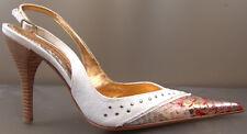 "Renzi Italian Designer Stiletto Snake Pumps EU Size 37.5 Brand New 4 1/4"" Heels"
