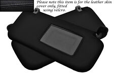 BLACK STITCH FITS HYUNDAI GETZ 02-08 2X SUN VISORS LEATHER COVERS ONLY