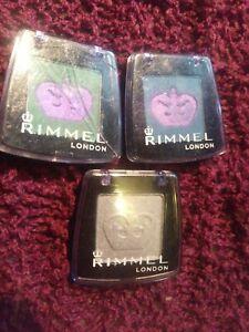 Rimmel London Green Blue Matte and Silver Metallic Eyeshadow Crown new eye