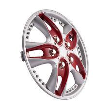 """13"""" Car Vihicle Wheel Rim Skin Cover Hub Caps Hubcap Wheel Cover Red 4Pcs/ Set"""