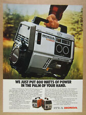 1983 Honda EX800 Portable Generator color photo vintage print Ad