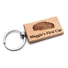 Personalised Engraved Wooden First Car Keyring CK-1