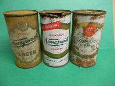 Vintage 1940's-50's Narragansett Flat Top Beer Can Lot Cranston Rhode Island
