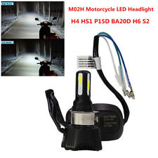 40W Motorcycle Headlight LED Bulb H4 HS1 P15D BA20D H6 S2 M02H Hi/Lo Beam Light